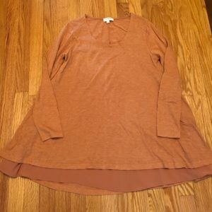 Tops - Long sleeve rust colored tunic